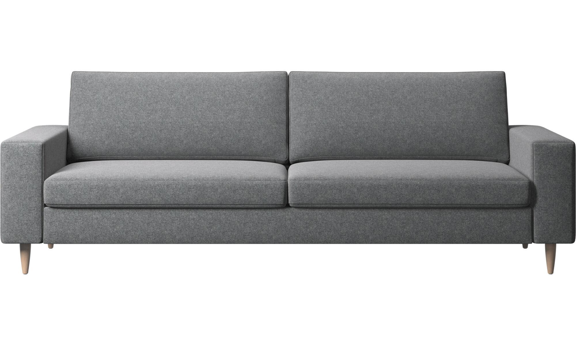 3 Seater Sofas   Indivi 2 Sofa   Grey   Fabric ...