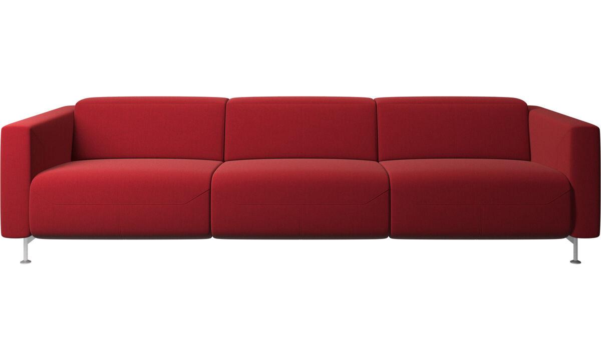 Sofás de 3 lugares - sofa reclinável Parma - Vermelho - Tecido