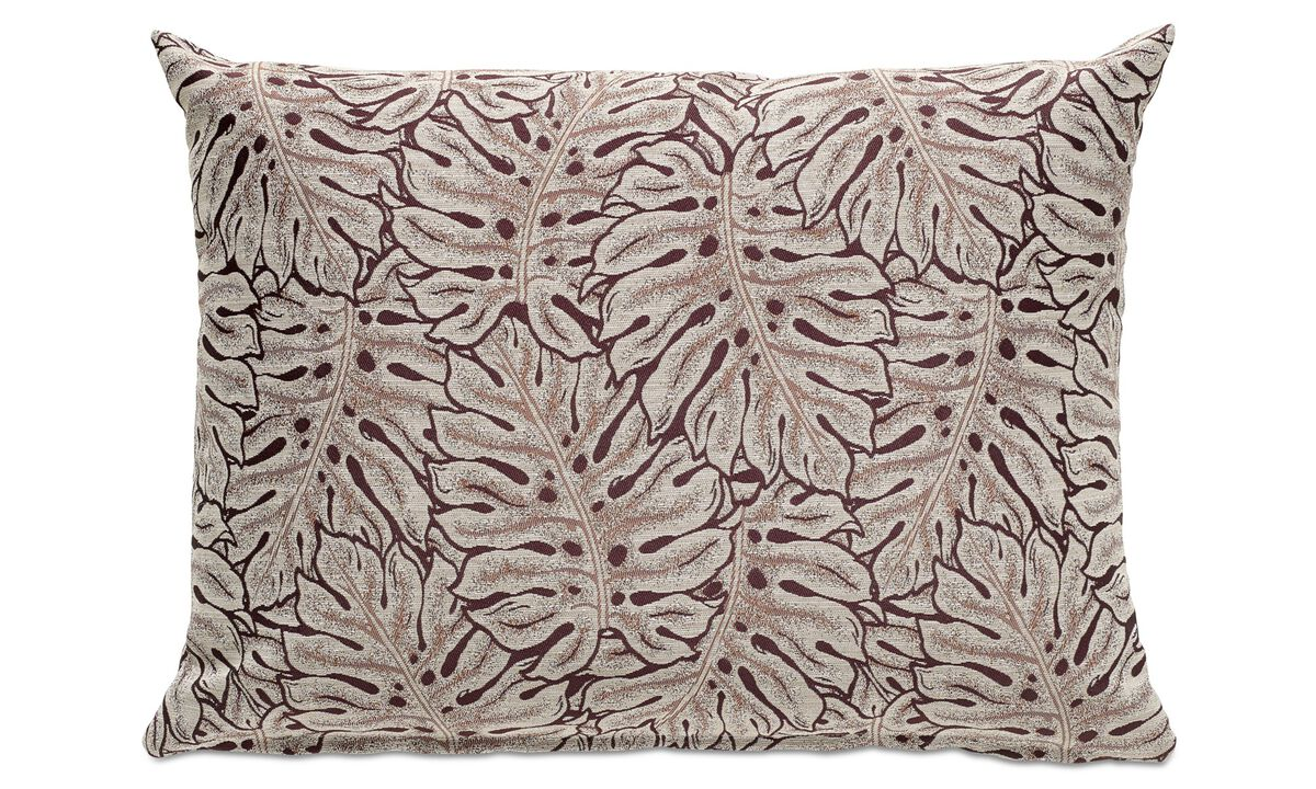 Cushions - Leaves cuscino - Viola - Tessuto