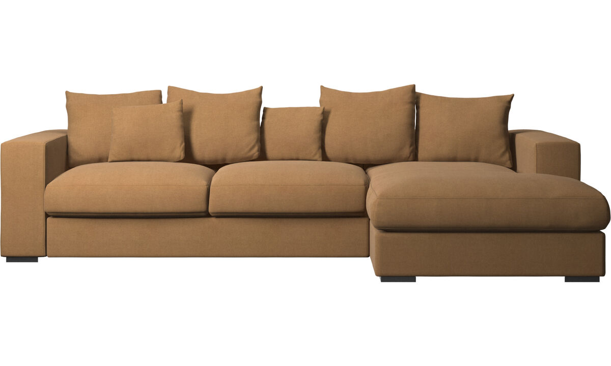 Chaise lounge sofas - Cenova sofa with resting unit - Brown - Fabric