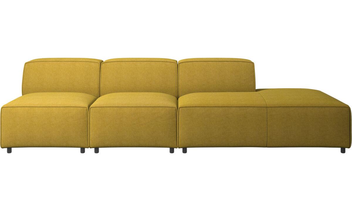Sofás con lado abierto - sofá Carmo con módulo de descanso - En amarillo - Tela