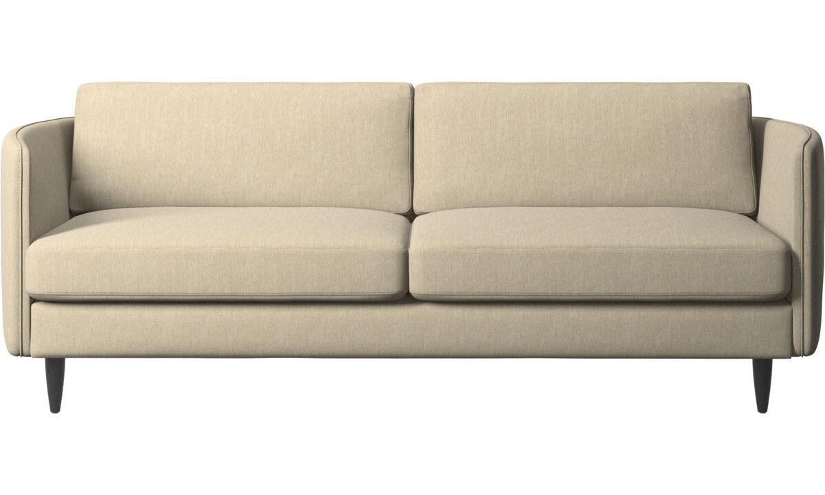 2.5 seater sofas - Osaka sofa, regular seat - Brown - Fabric