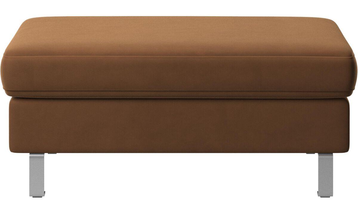 Footstools - Indivi footstool - Brown - Leather