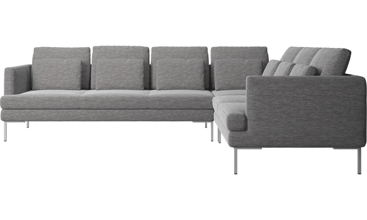 Γωνιακοί καναπέδες - γωνιακός καναπές Istra 2 - Γκρι - Ύφασμα