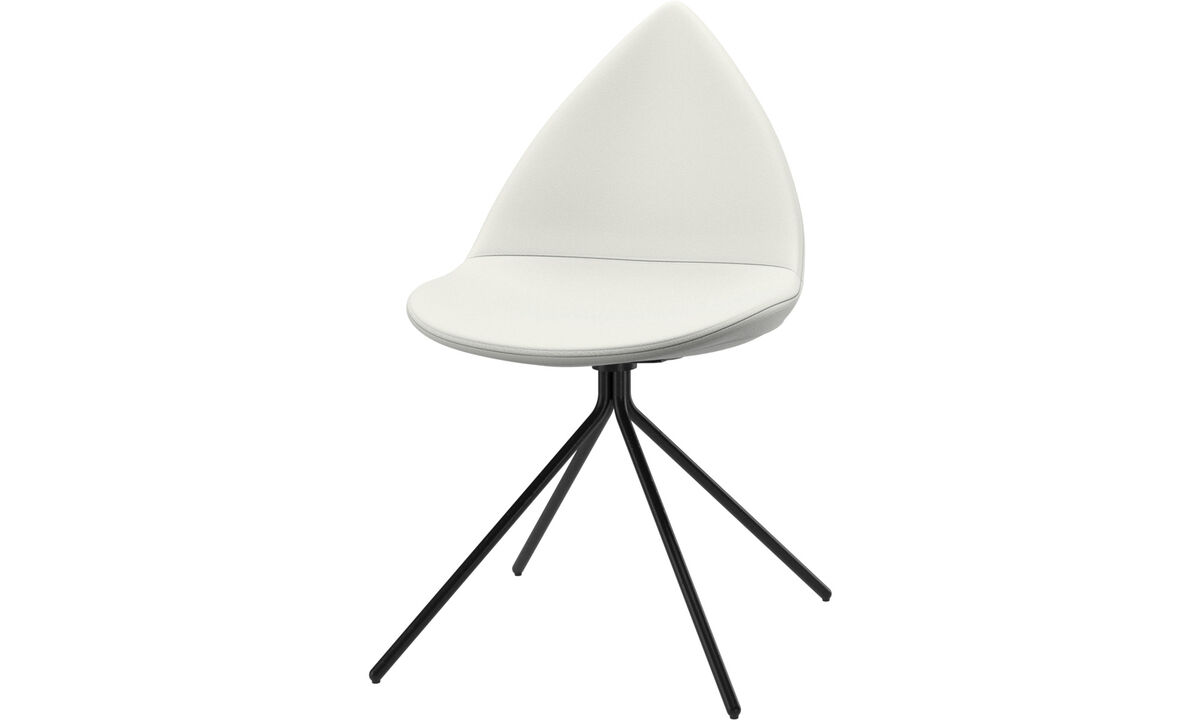 Dining chairs - Ottawa chair - White - Leather