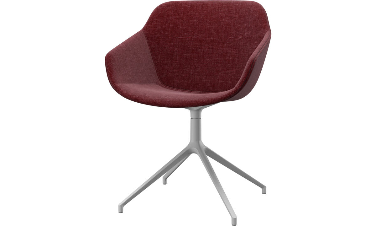Dining chairs - Vienna chair with swivel function - Red - Fabric