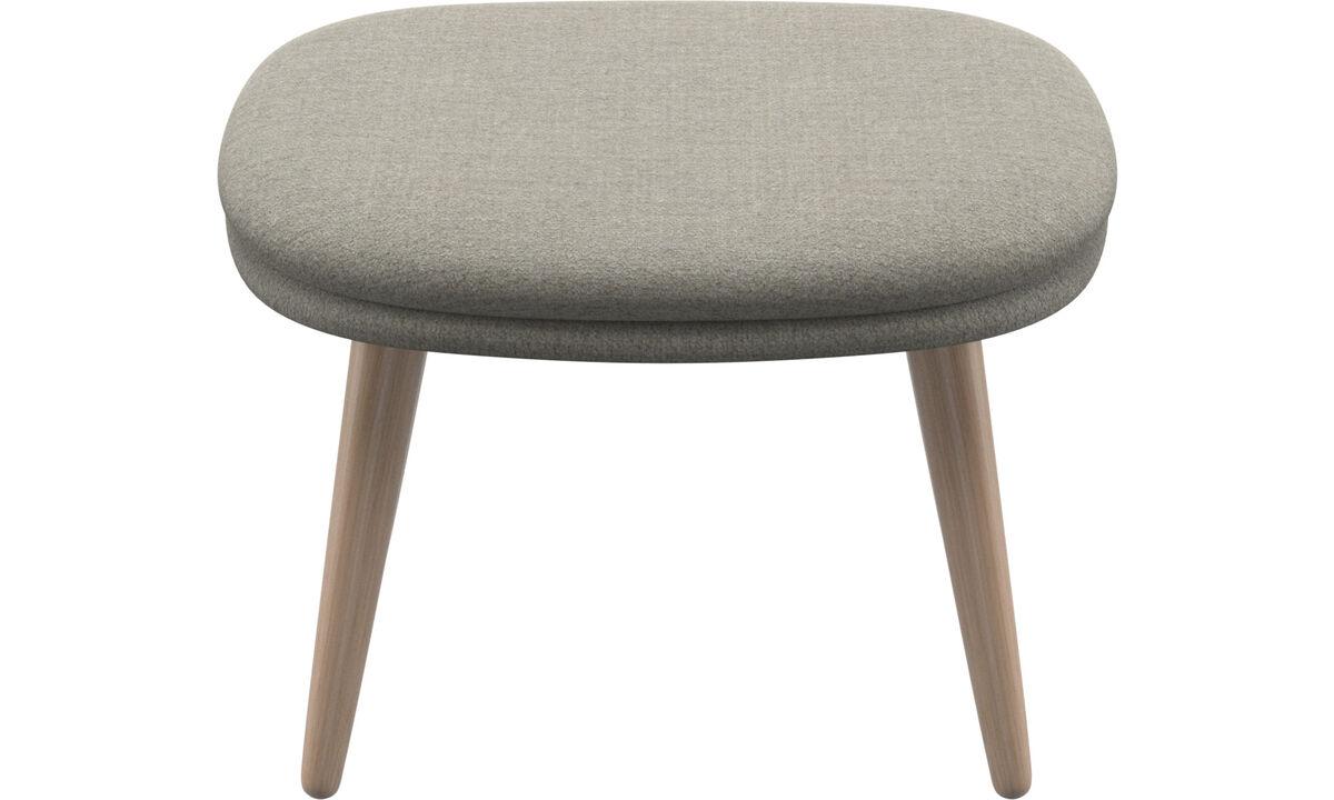 Footstools - Adelaide footstool - Beige - Fabric