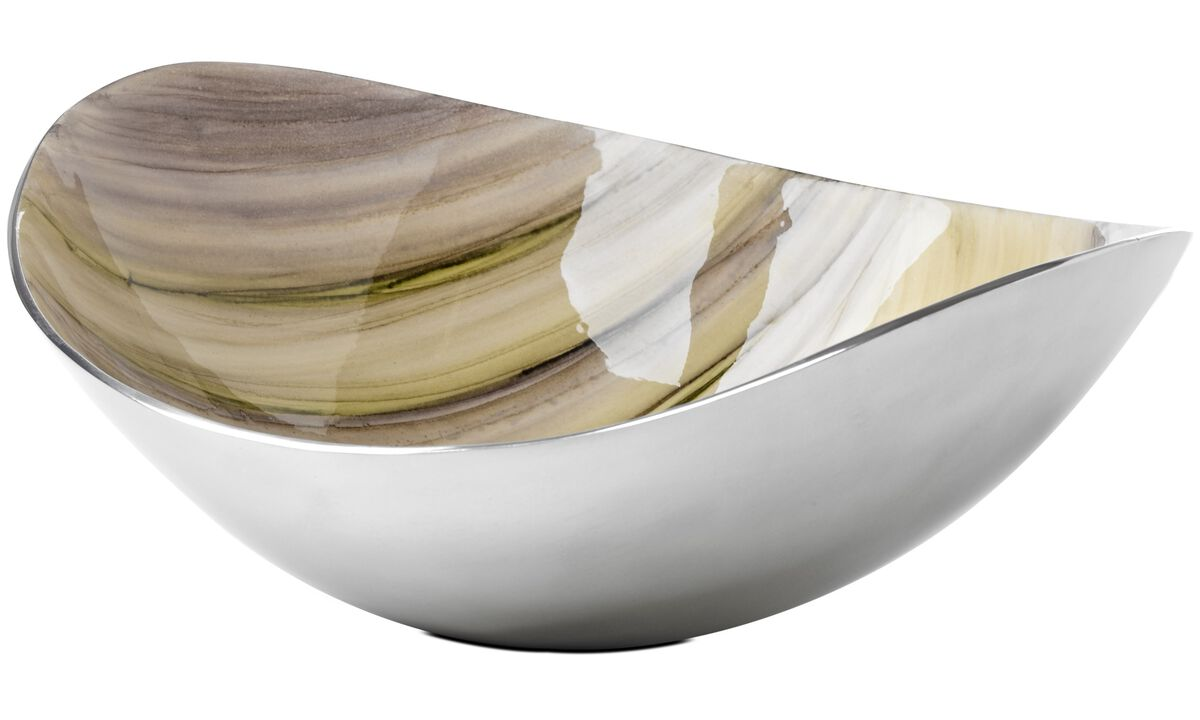 Bowls & dishes - Enamel bowl - Grey - Metal