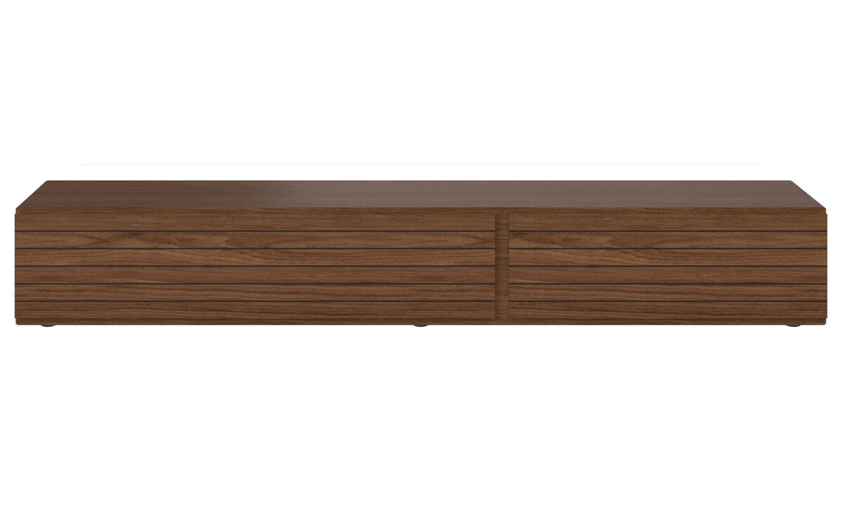 Tv units - Lugano base cabinet with drawer and drop-down door - Walnut