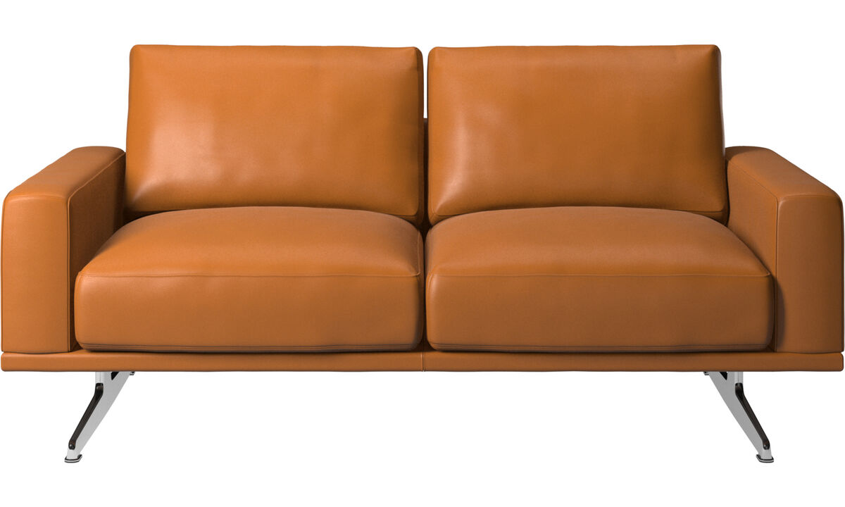 2 seater sofas - Carlton sofa - Brown - Leather