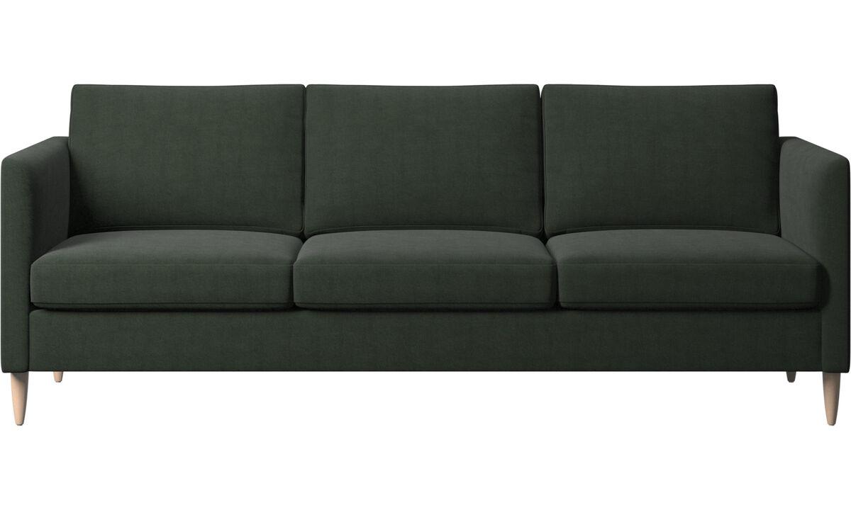 Sofy 3-osobowe - sofa Indivi - Zielony - Tkanina