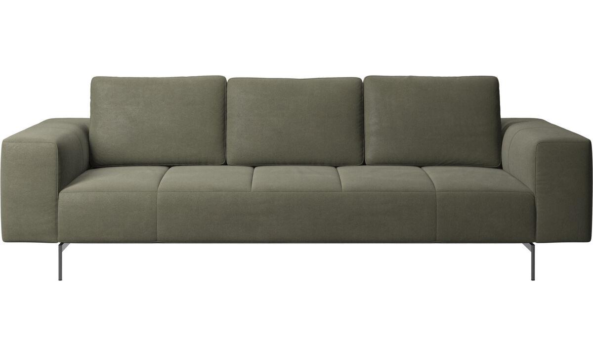 3-sitzer Sofas - Amsterdam sofa - Grün - Leder