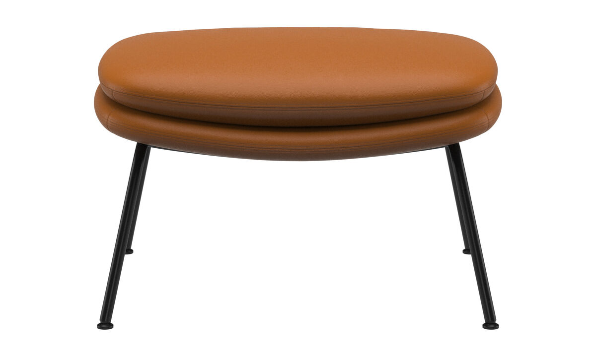 Footstools - Dublin footstool - Brown - Leather