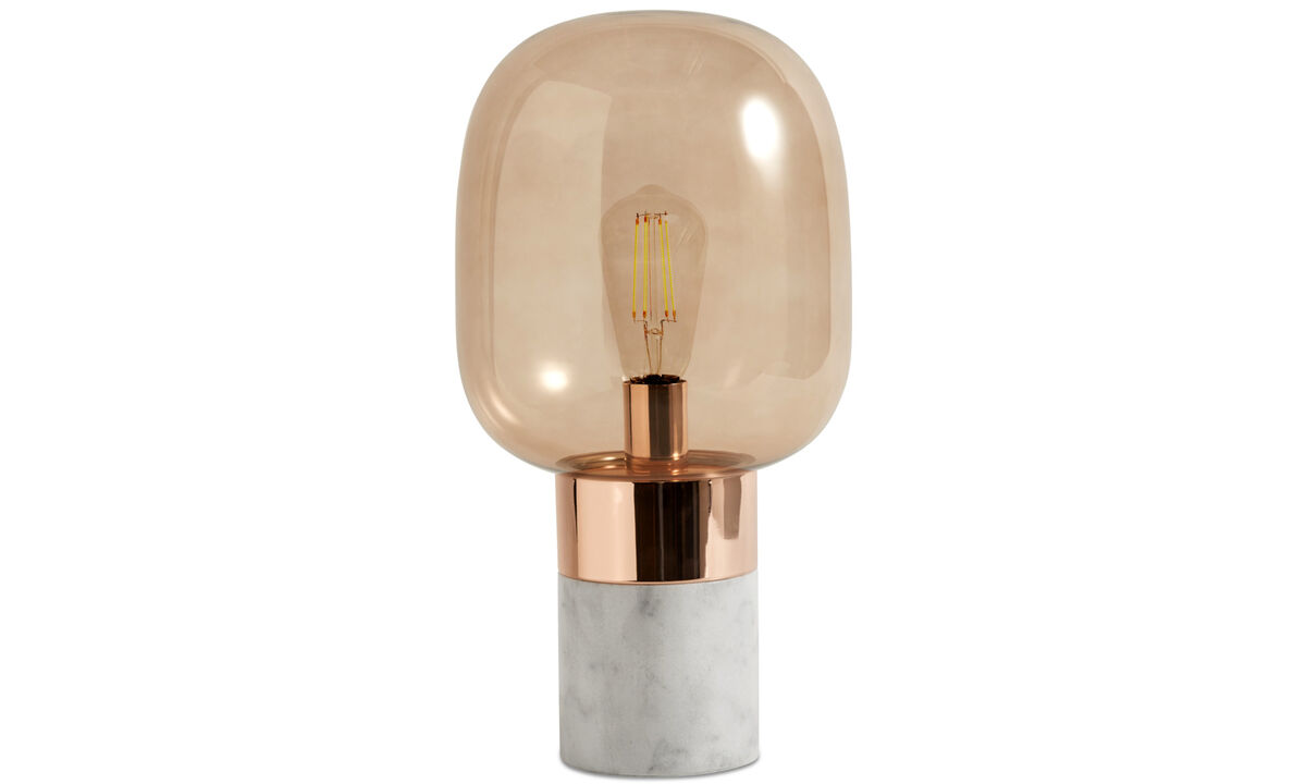 Table lamps - Stockholm table lamp - Orange - Glass