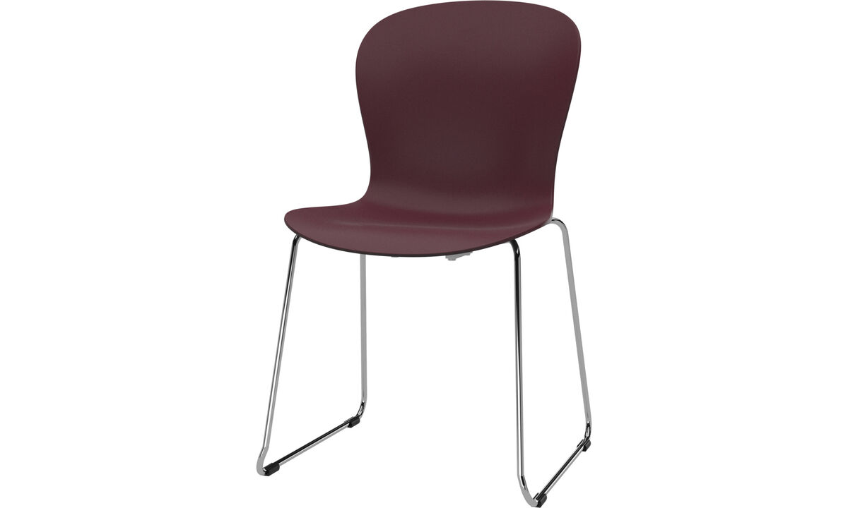 Dining chairs - Adelaide chair - Red - Plastic