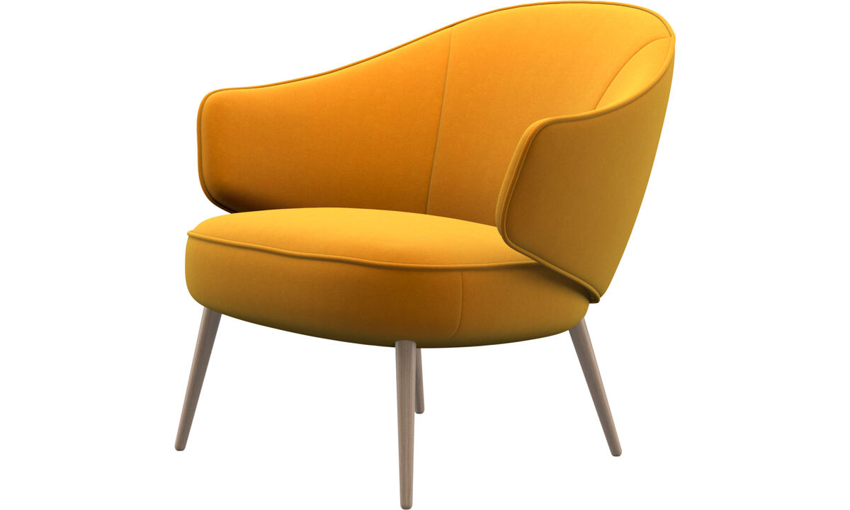 Fauteuils - Charlotte fauteuil - Oranje - Stof