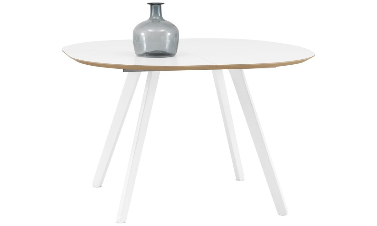 Dining tables - Wembley table - round - White - Laminate