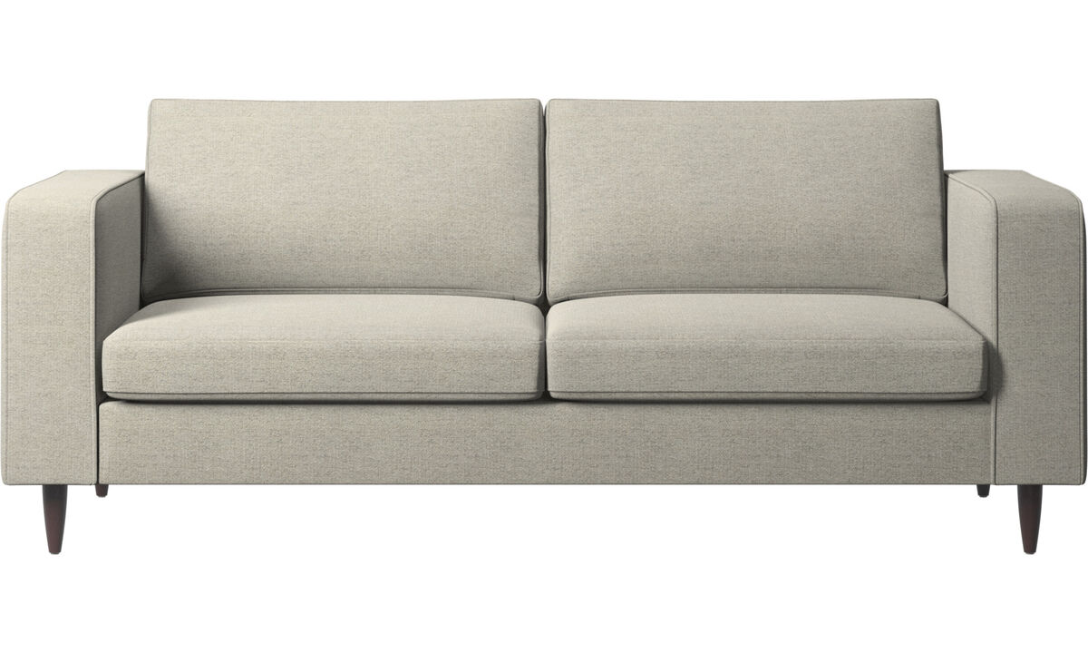Sofás de 2 plazas y media - sofá Indivi - En beige - Tela