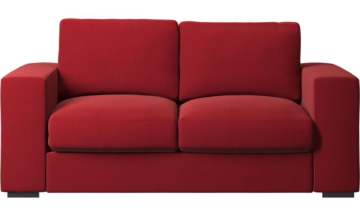 Sofás de 2 lugares - Sofá Cenova - Vermelho - Tecido