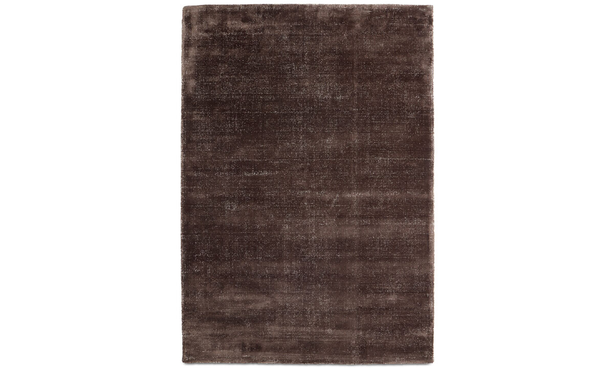 Rugs - Simple rug - rectangular - Brown - Wool