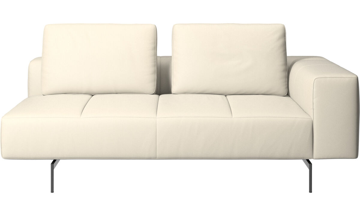 2.5 seater sofas - Amsterdam 2,5 seating module, armrest right - White - Leather