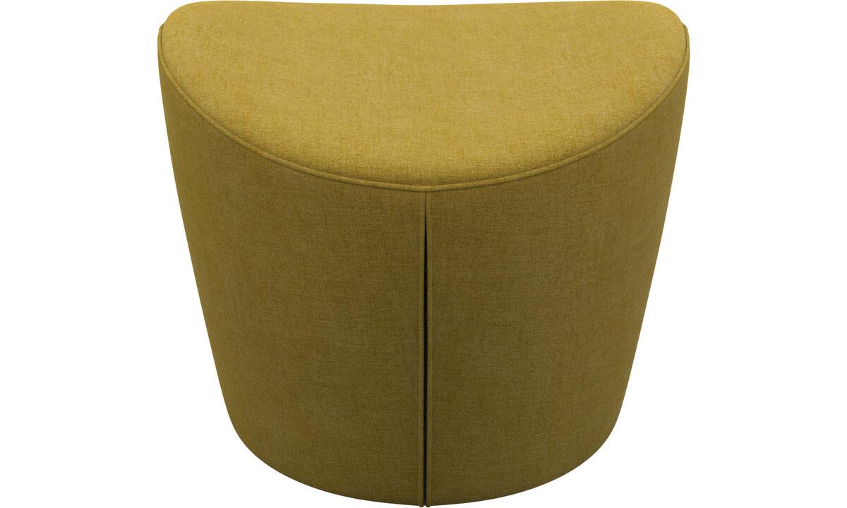 Footstools - Rico footstool - Yellow - Fabric