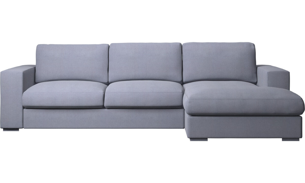 Chaise lounge sofas - Cenova sofa with resting unit - Blue - Fabric