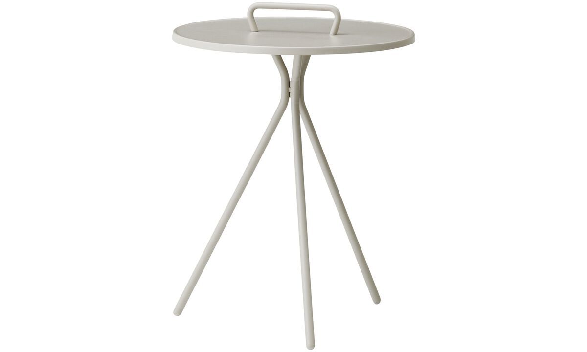 Night stands - Jersey side table (for in and outdoor use) - round - Grey - Lacquered
