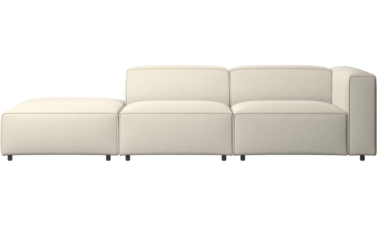 New designs - Carmo sofa with lounging unit - White - Fabric