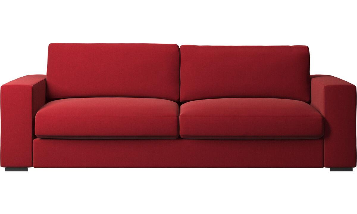 Sofás de 3 lugares - Sofá Cenova - Vermelho - Tecido