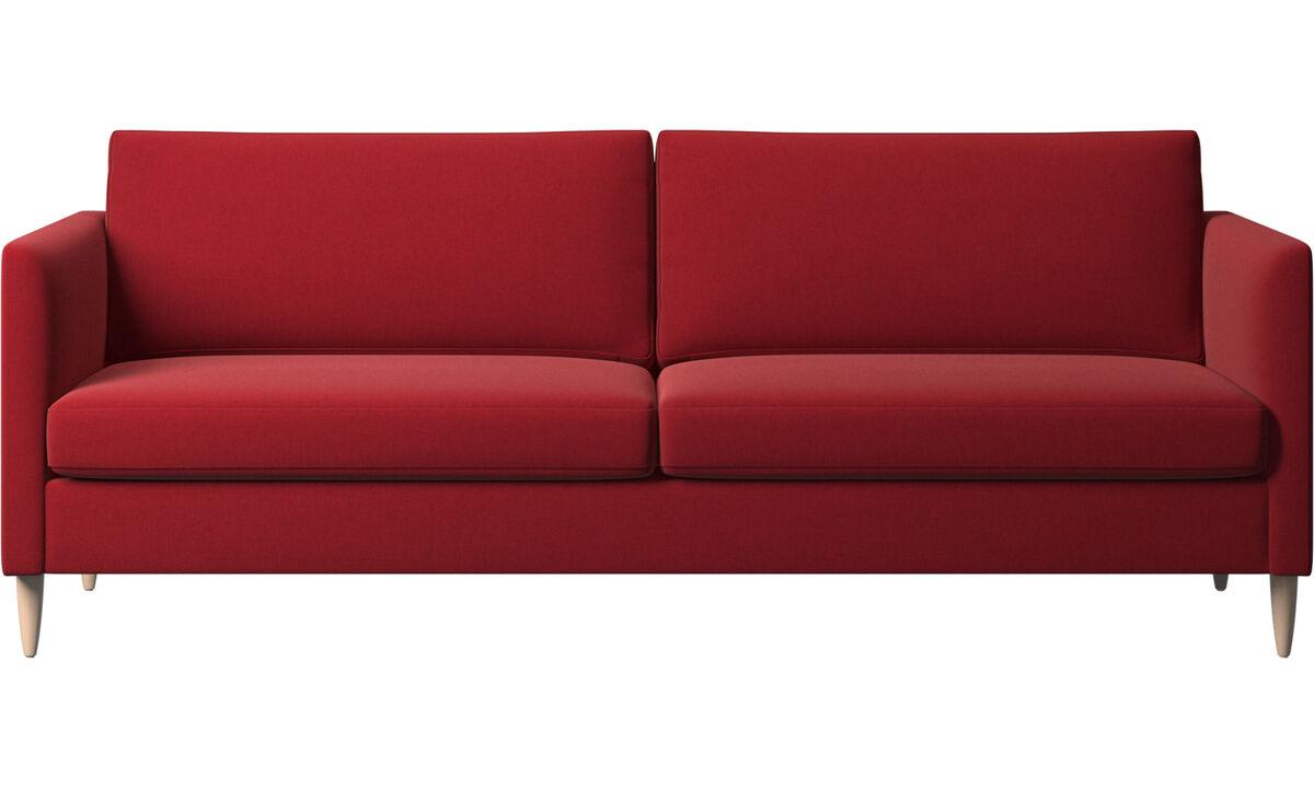 Sofy 3-osobowe - sofa Indivi - Czerwone - Tkanina
