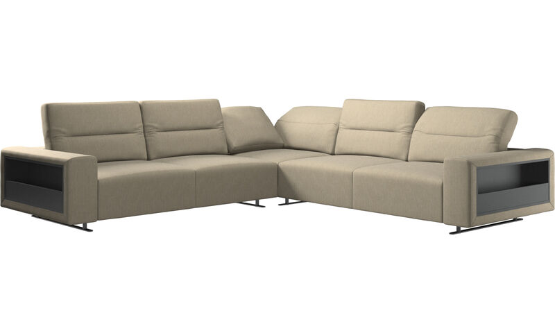 Hampton corner sofa with adjustable back and storage