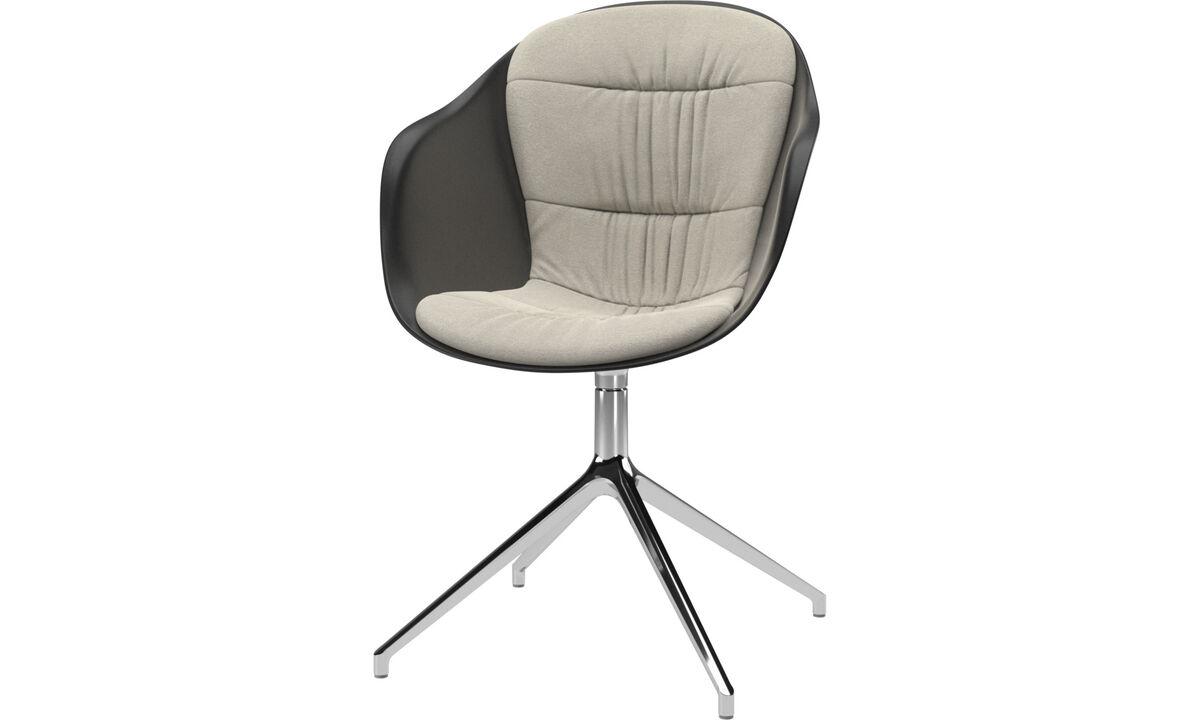 Spisestole - Adelaide stol med drejefunktion - Hvid - Stof