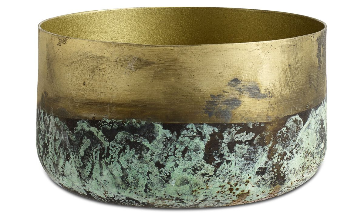 New designs - Oxidized bowl - Yellow - Metal