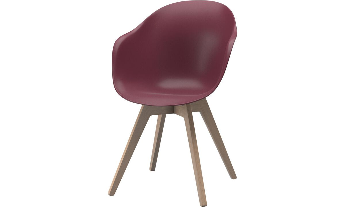 Dining chairs - Adelaide chair - Red - Oak
