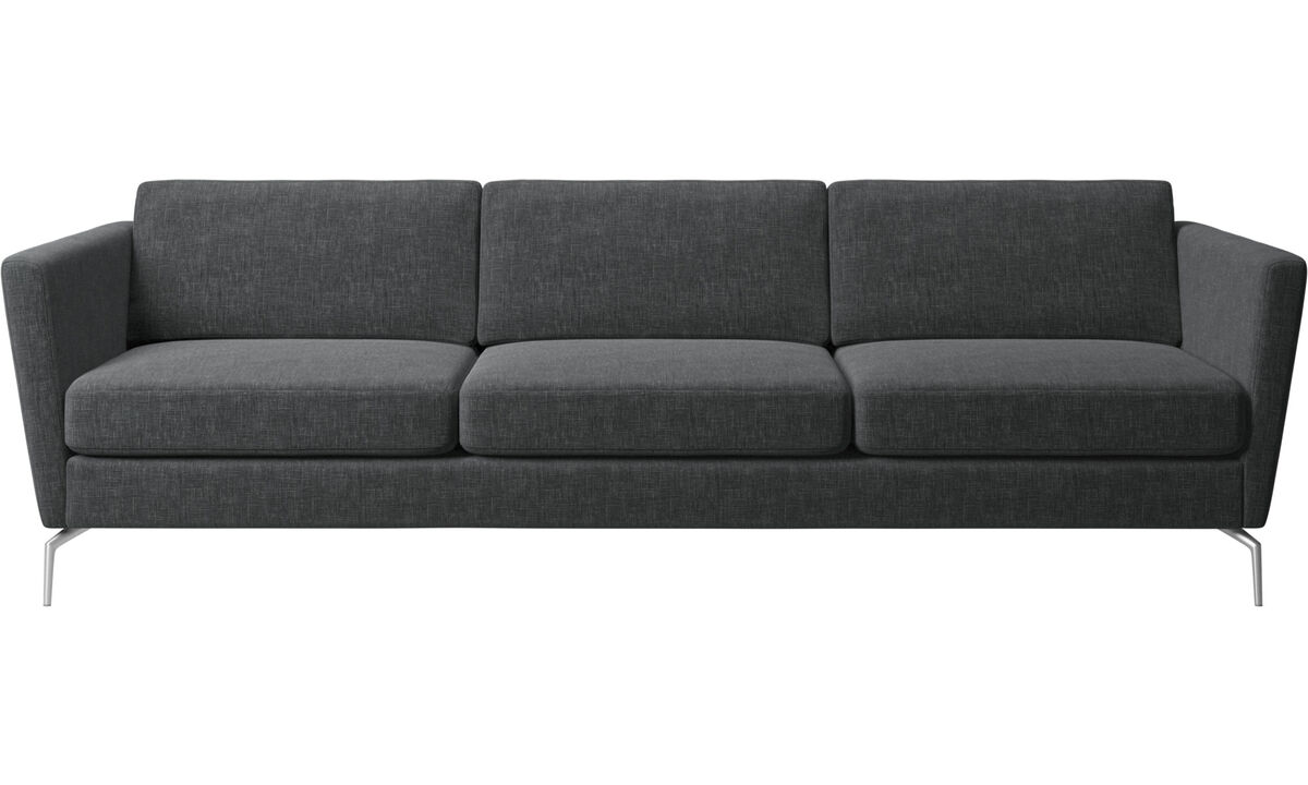 3 seater sofas - Osaka sofa, regular seat - Gray - Fabric