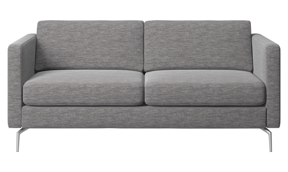 2 seater sofas - Osaka sofa, regular seat - Grey - Fabric