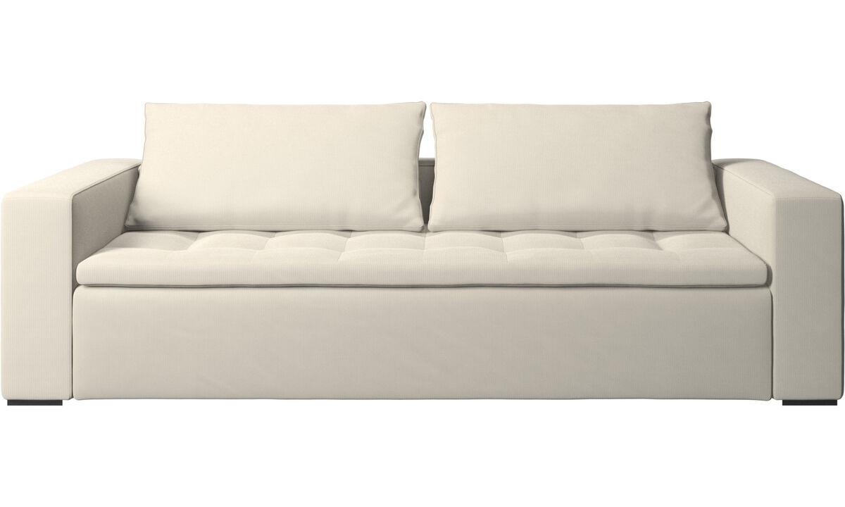3 seater sofas - Mezzo sofa - White - Fabric