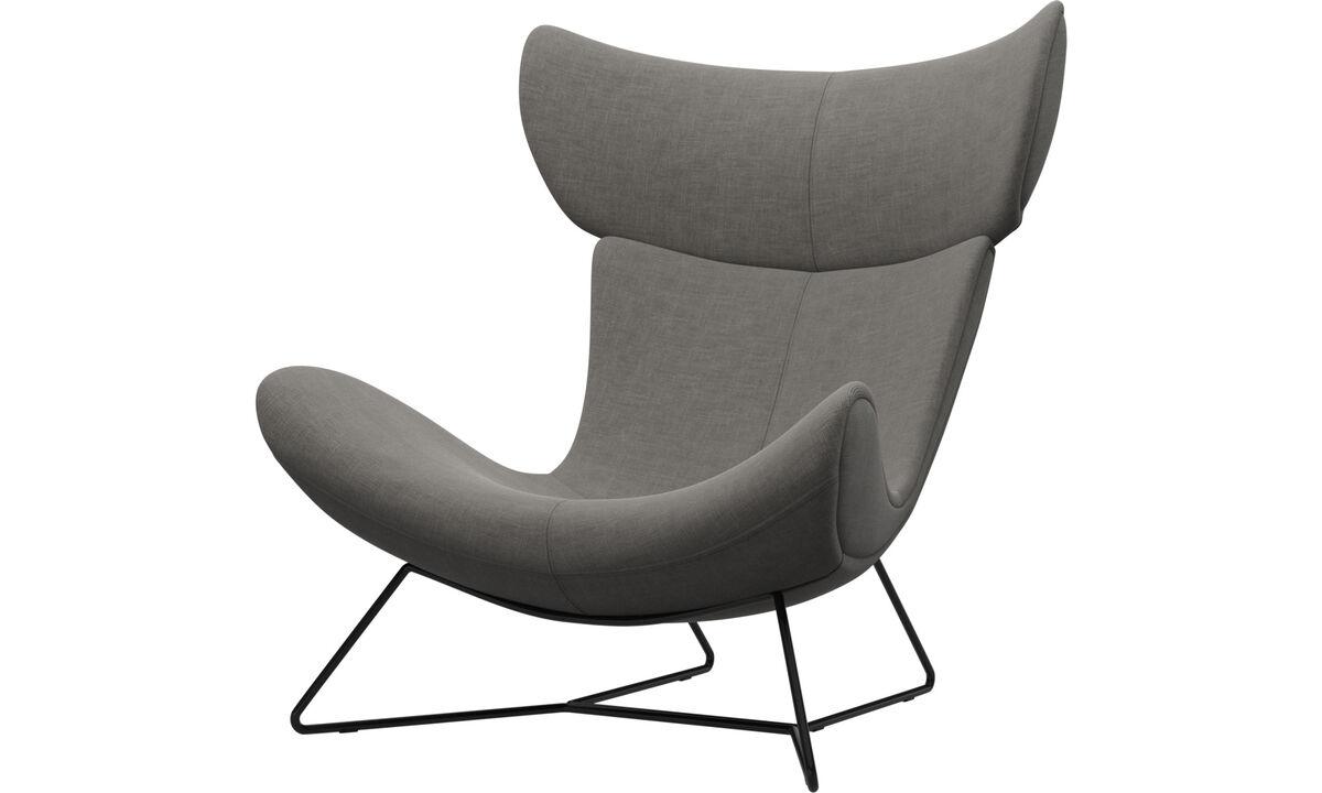 Fauteuils - Imola fauteuil - Grijs - Stof