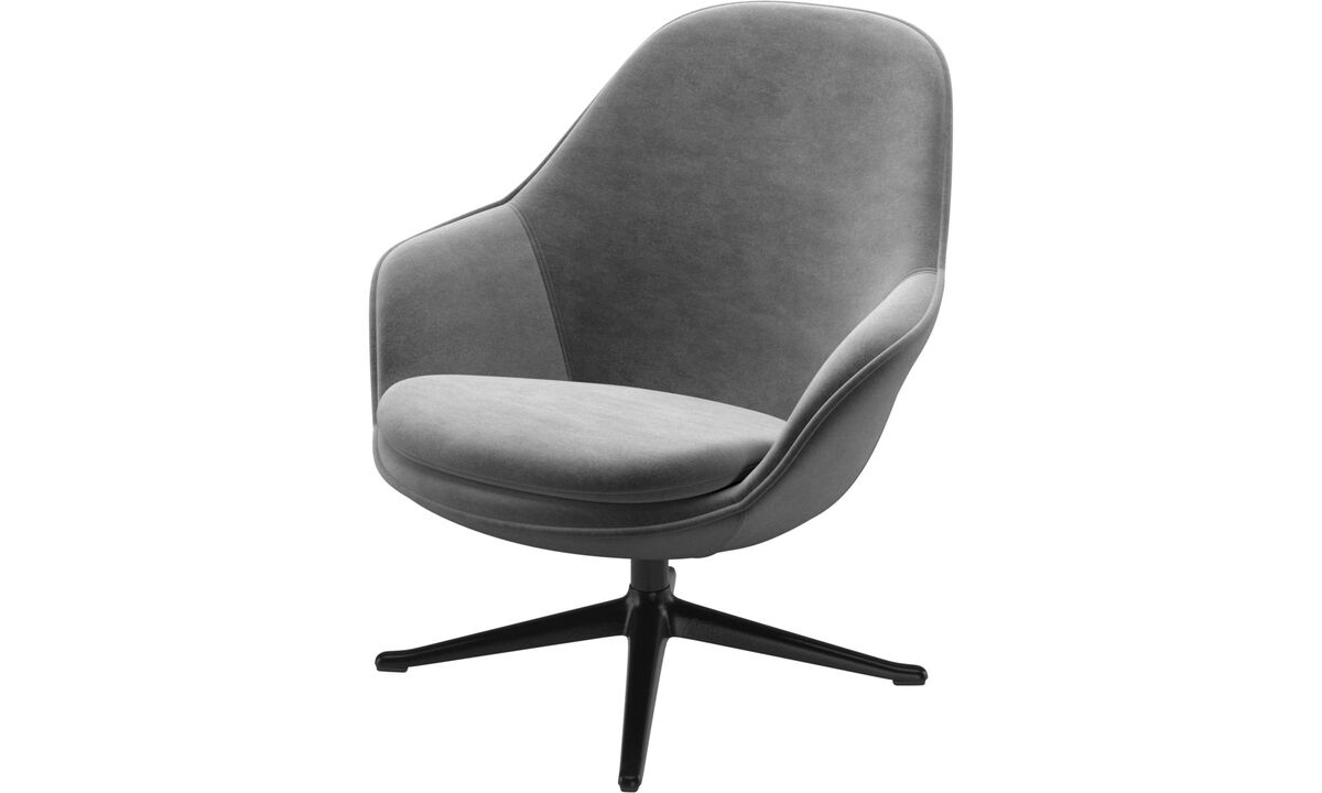 Armchairs - Adelaide living chair - Gray - Fabric
