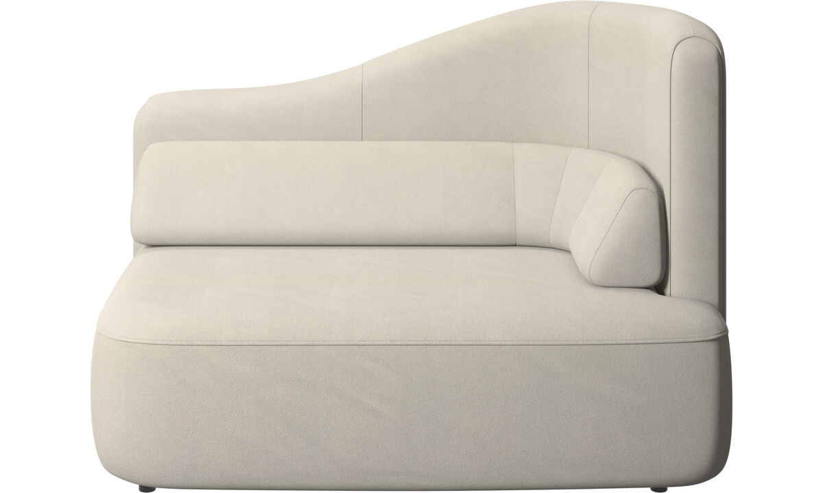Modular sofas - Ottawa 1,5 seater right arm - White - Fabric