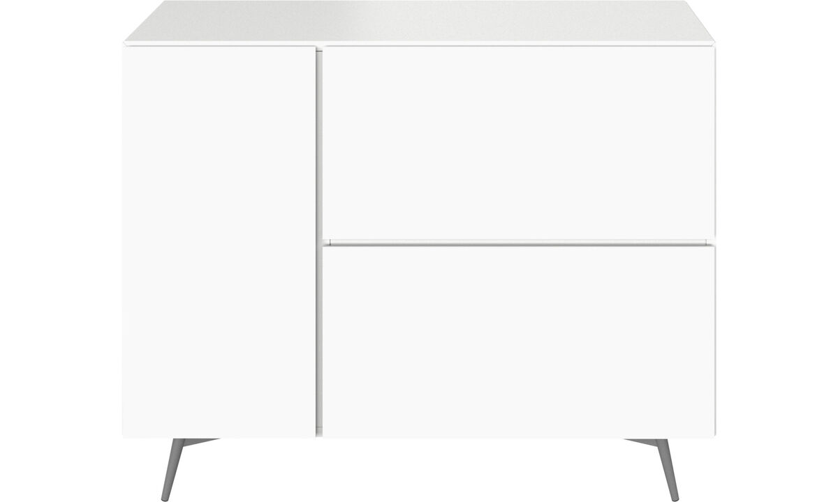Sideboards - Lugano wall system with drawers - White - Lacquered