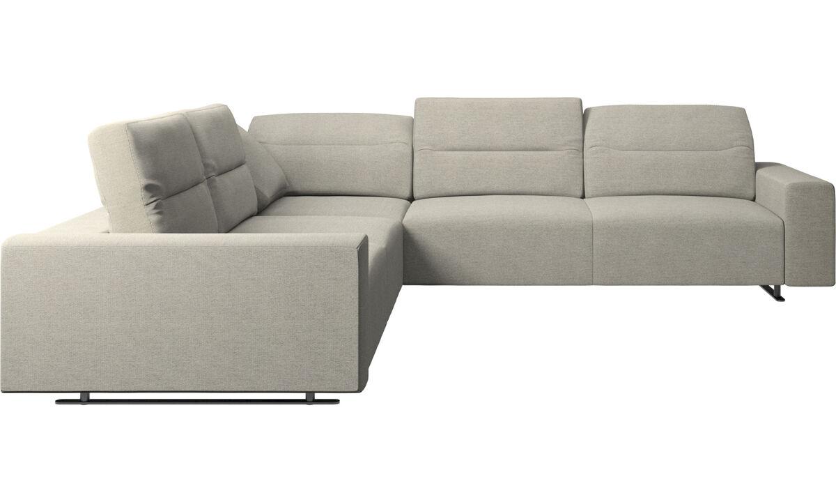 Угловые диваны - Угловой диван Hampton с регулируемой спинкой - Бежевого цвета - Tкань