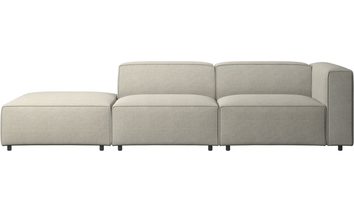 2 seater sofas - Carmo sofa with lounging unit - Beige - Fabric