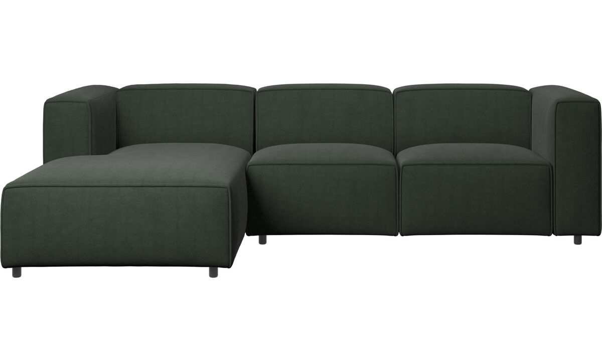 Chaise lounge sofas - Carmo motion sofa with resting unit - Green - Fabric