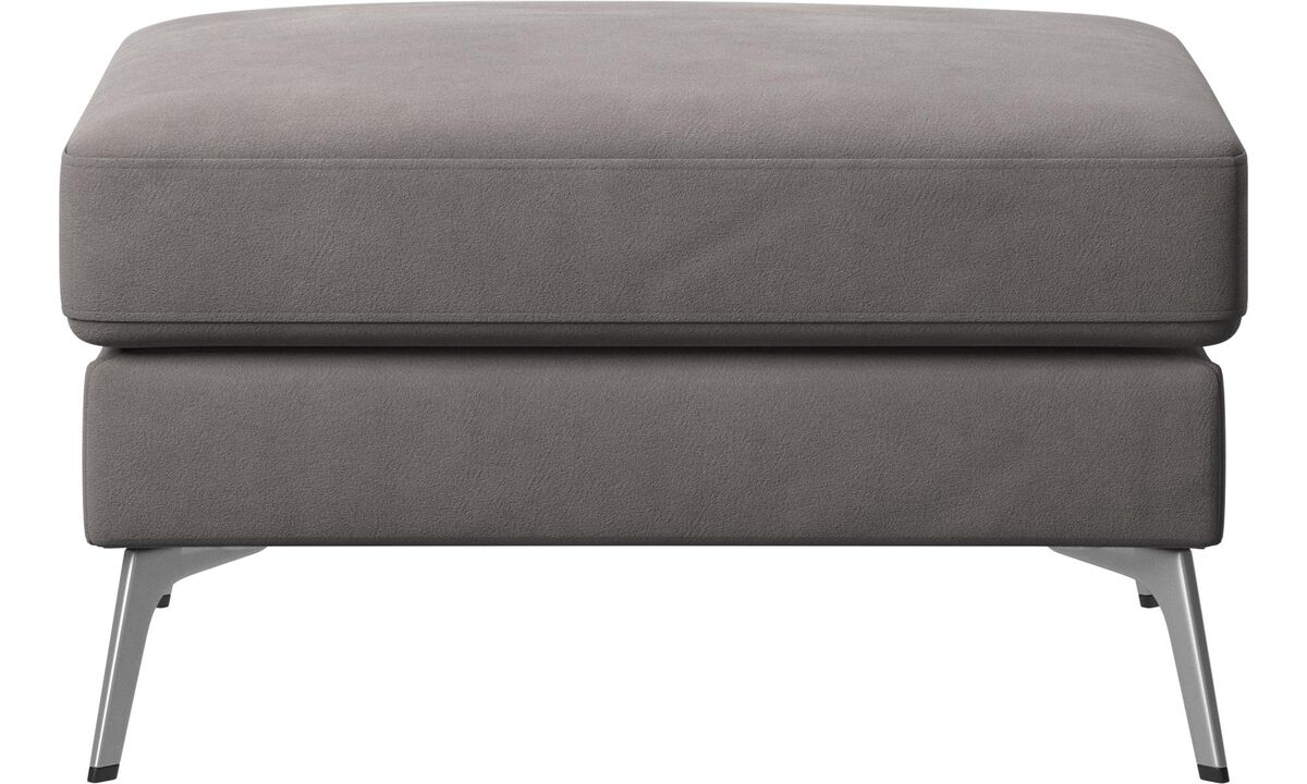 Ottomans - Madison ottoman - Gray - Fabric