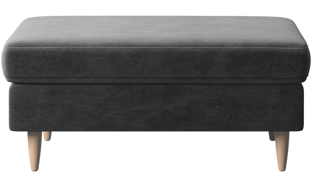Ottomans - Indivi 2 ottoman - Gray - Fabric