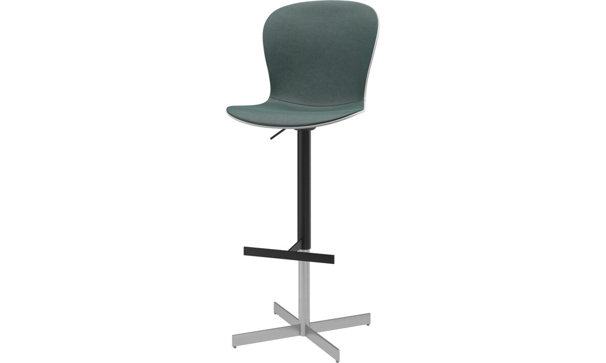 Bar stools - Adelaide barstool with gas cartridge - Green - Fabric