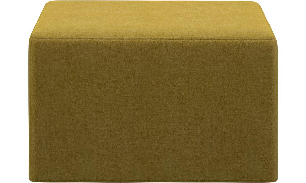 Sofa Hocker - Xtra Hocker mit Schlaffunktion - Gelb - Stoff