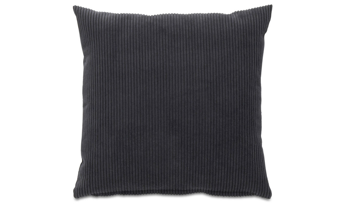 Patterned cushions - Cord cushion - Grey - Fabric
